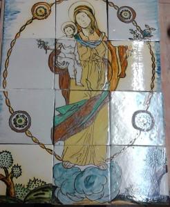 Plafó de la Mare de Déu del Roser restaurat